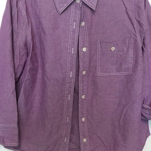 Coldwater Creek LILAC COLLARED/BUTTON DOWN BLOUSE.
